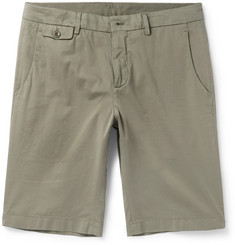 Loro Piana - Madison Washed Stretch-Cotton Shorts