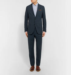 Ermenegildo ZegnaBlue Slim-Fit Puppytooth Woven Suit Jacket