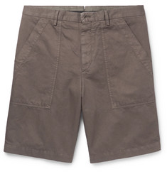 Ermenegildo Zegna Garment-Dyed Cotton and Linen-Blend Shorts