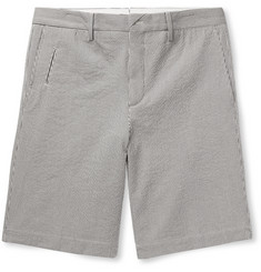 Ermenegildo Zegna - Striped Stretch-Cotton Seersucker Shorts