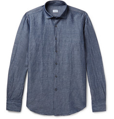 Incotex - Slim-Fit Linen and Cotton-Blend Chambray Shirt