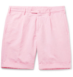 Incotex Slub Cotton and Linen-Blend Shorts