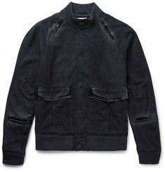 Tomas Maier - Slim-Fit Suede Bomber Jacket