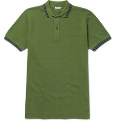 Tomas Maier Slim-Fit Contrast-Tipped Cotton-Piqué Polo Shirt