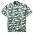 Gitman Vintage - Camp-Collar Printed Cotton-Poplin Shirt