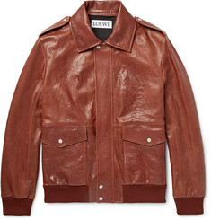 Loewe - Textured-Leather Jacket