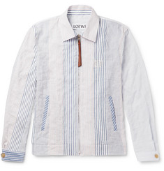 Loewe Slim-Fit Striped Cotton-Blend Blouson Jacket