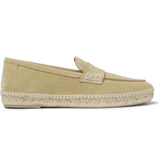 Loewe Suede Espadrille Penny Loafers