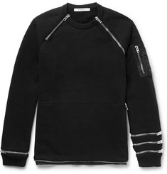 Givenchy Cuban-Fit Zip-Detailed Cotton-Jersey Sweatshirt