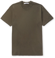 Givenchy Columbian-Fit Silk-Trimmed Cotton-Jersey T-Shirt
