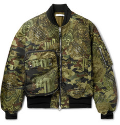 Givenchy Printed Satin-Twill Bomber Jacket