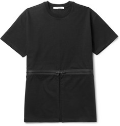 Givenchy Columbian-Fit Zip-Detailed Cotton-Jersey T-Shirt