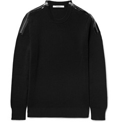 Givenchy Zip-Detailed Ribbed Cotton Sweater