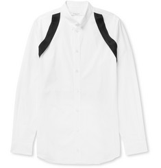 Givenchy Slim-Fit Button-Down Collar Cotton-Poplin and Webbing Shirt