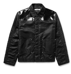 Givenchy Slim-Fit Faux Leather-Panelled Shell Jacket