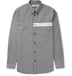 Givenchy Slim-Fit Button-Down Collar Gingham Cotton-Poplin Shirt