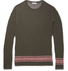 Valentino Slim-Fit Fine-Knit Ribbed-Jersey Sweater