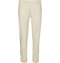 Valentino Striped Slub Cotton Trousers