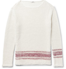 Valentino - Linen and Silk-Blend Sweater