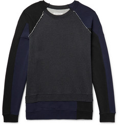 Maison Margiela Oversized Panelled Loopback Cotton-Jersey Sweatshirt