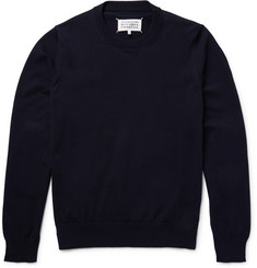 Maison Margiela Elbow-Patch Cotton Sweater