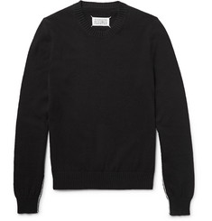 Maison Margiela Contrast-Trimmed Cotton Sweater