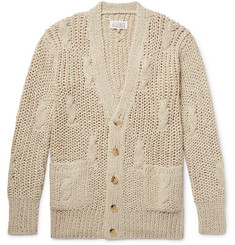 Maison Margiela Oversized Knitted Silk Cardigan