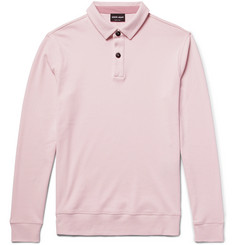 Giorgio Armani Slim-Fit Cotton-Jersey Polo Shirt