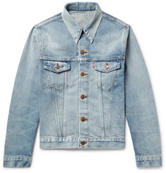 Levi's Vintage Clothing 1967 Type III Slim-Fit Contrast-Stitched Distressed Denim Jacket