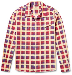 Levi's Vintage Clothing Shorthorn Camp-Collar Checked Cotton-Flannel Shirt
