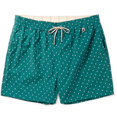 Loro Piana Slim-Fit Mid-Length Printed Swim Shorts