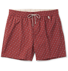 Loro Piana - Slim-Fit Mid-Length Printed Swim Shorts
