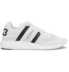 Y-3 Yohji Run Suede-Trimmed Mesh Sneakers
