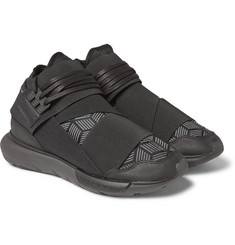 Y-3 - Qasa Leather-Trimmed Neoprene Sneakers