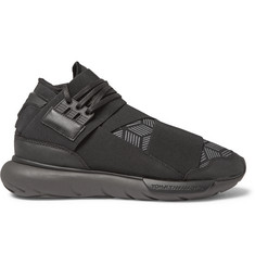 Y-3 Qasa Leather-Trimmed Neoprene Sneakers