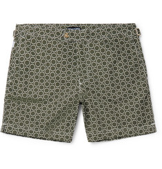 TOM FORD Slim-Fit Mid-Length Circle-Print Swim Shorts
