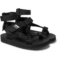 Prada Leather, Webbing and Rubber Sandals