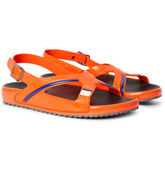 Prada - Rubber and Leather Sandals