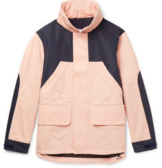 Acne Studios Panelled Shell and Cotton-Twill Hooded Jacket