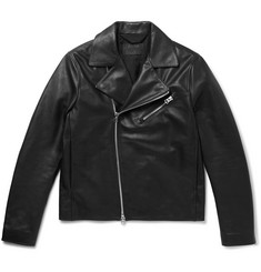 Acne Studios Axl Slim-Fit Suede-Panelled Leather Jacket