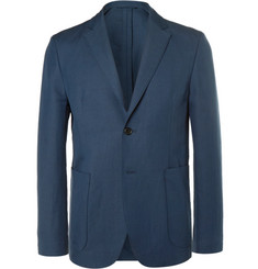 Acne Studios Blue Biarritz Slim-Fit Linen and Cotton-Blend Suit Jacket