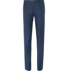 Acne Studios Blue Brobyn Slim-Fit Linen and Cotton-Blend Suit Trousers