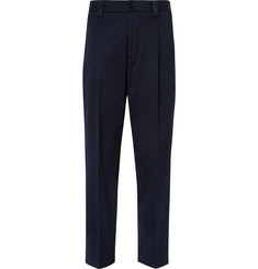 Acne Studios Abram Slim-Fit Pleated Cotton-Blend Trousers