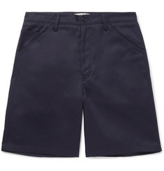 Acne Studios - Allan Wide-Leg Cotton-Blend Twill Shorts