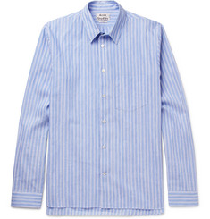 Acne Studios York Striped Linen and Cotton-Blend Shirt
