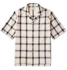 Acne Studios Elm Camp-Collar Checked Cotton Shirt