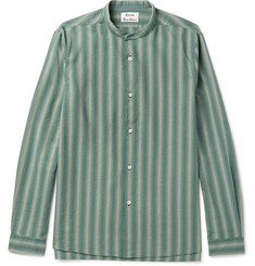 Acne Studios Pine Grandad-Collar Cotton-Jacquard Shirt