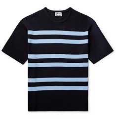 Acne Studios - Striped Ribbed-Knit T-Shirt