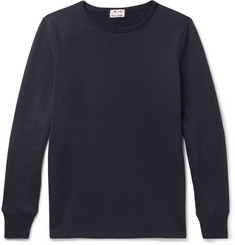 Acne Studios Finish Slim-Fit Fleece-Back Cotton-Jersey T-Shirt