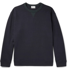 Acne Studios Field Contrast-Trimmed Fleece-Back Cotton-Jersey Sweatshirt